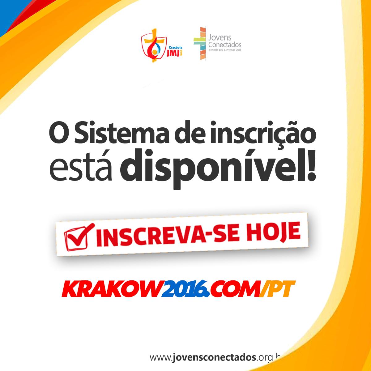 Inscrições abertas para Jornada Mundial da Juventude2016