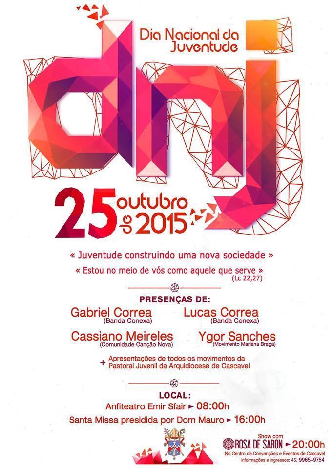 DNJ de Cascavel acontece domingo e programação inclui show do Rosa de Saron