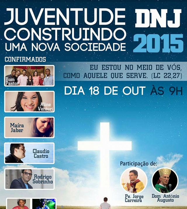 Cariocas vão celebrar DNJ no dia 18 de outubro com pregação, Missa e animação de DJs
