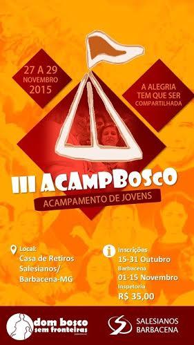 AcampBosco está com inscrições abertas