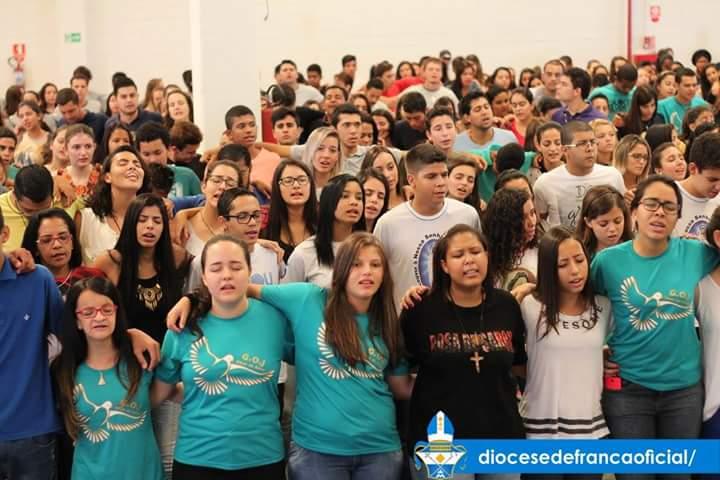 Jovens dão um show de fé e missionariedade no DNJ da diocese de Franca