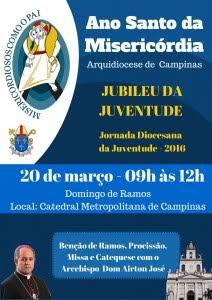 Arquidiocese de Campinas celebra Jubileu da Juventude