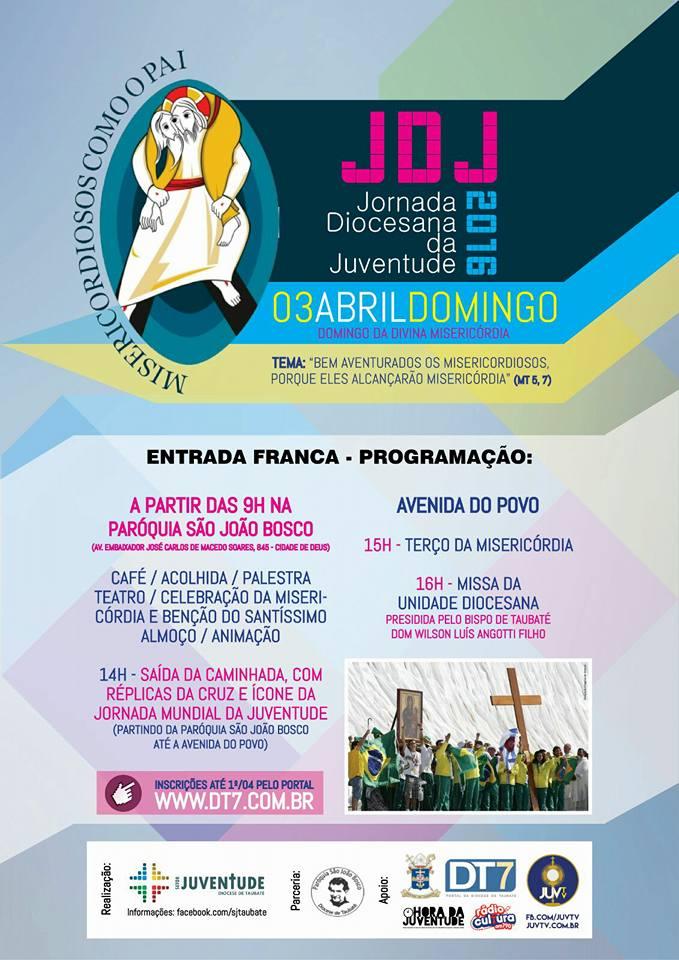 Diocese de Taubaté realiza JDJ 2016 na Festa da Misericórdia
