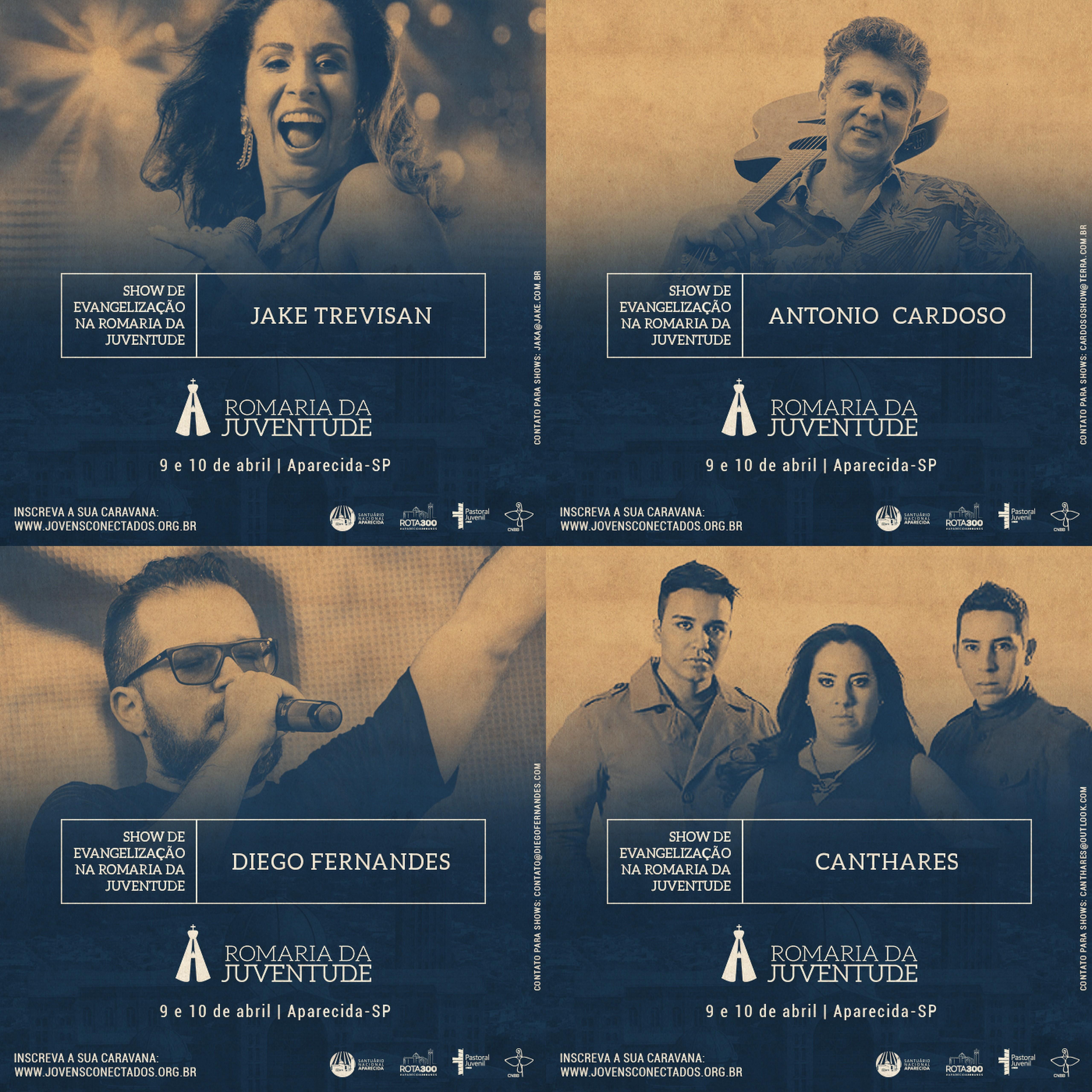 Confira as atrações dos shows da Romaria Nacional da Juventude!