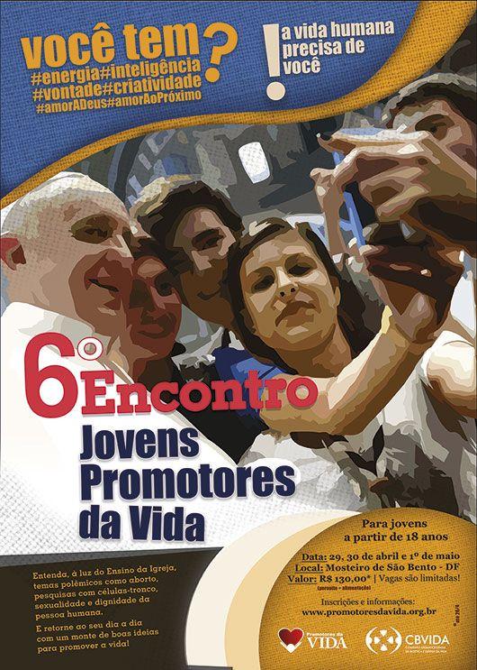 Juventude de Brasília pode ser inscrever para o 6º Encontro Jovens Promotores da Vida