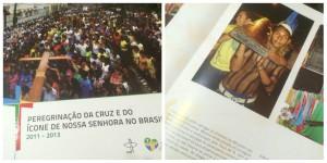 O livro comemorativo com as fotos do projeto Bote Fé foi publicado pelas Edições CNBB. Foto/montagem: Gracielle Reis.