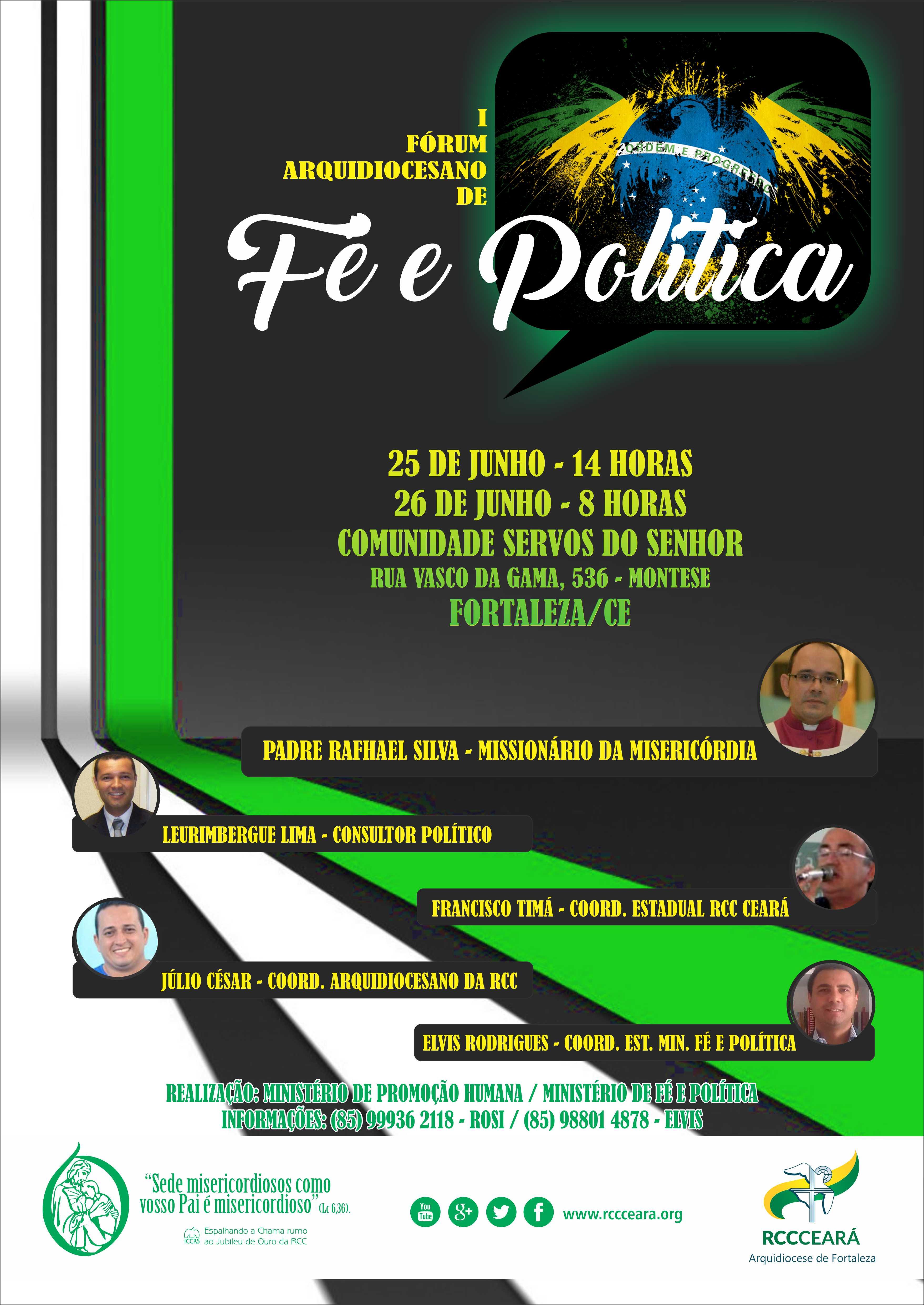 """""""Fé e Política"""" é tema de Fórum Carismático em Fortaleza"""