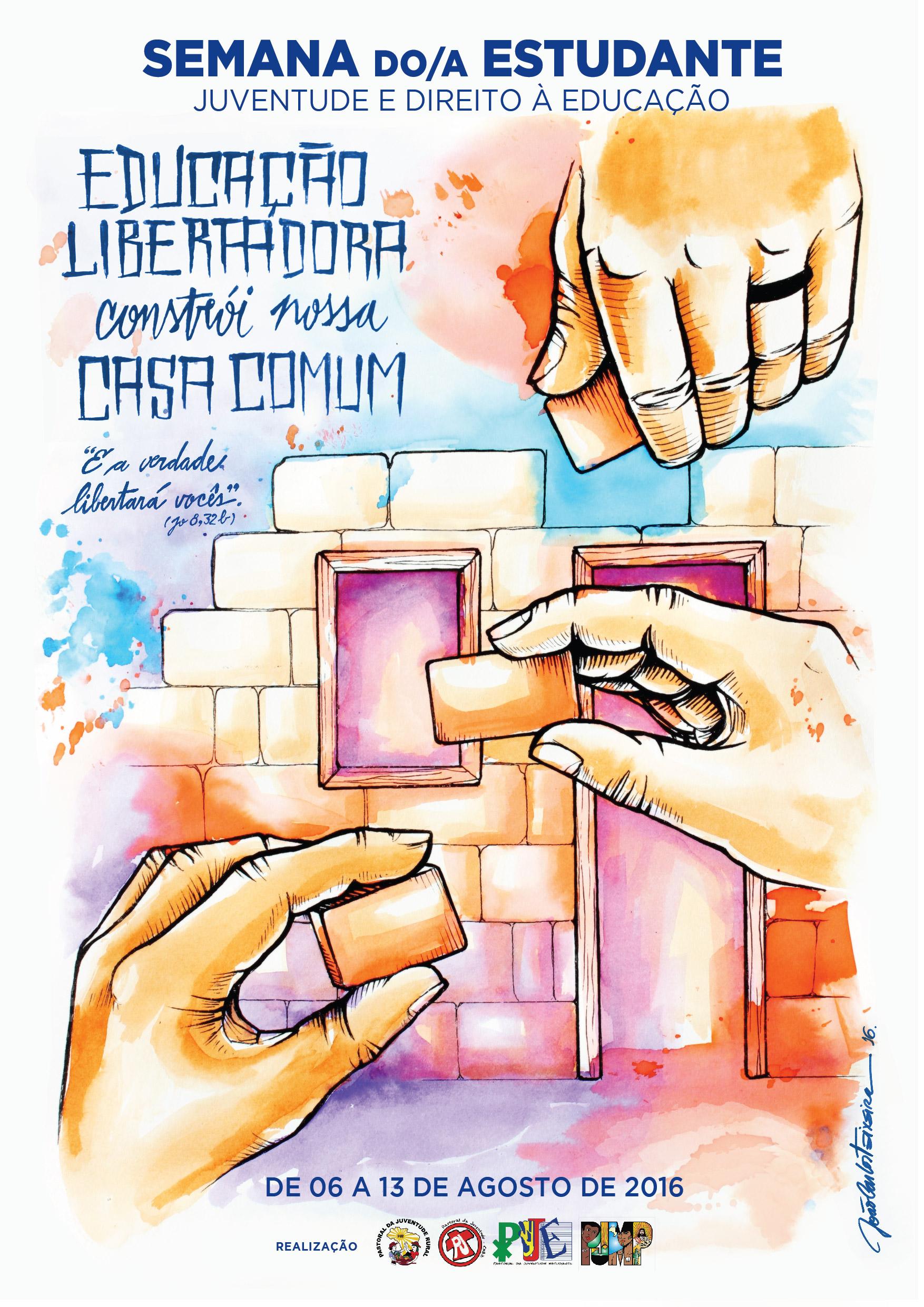 Pastorais da Juventude lançam cartaz da Semana do Estudante 2016