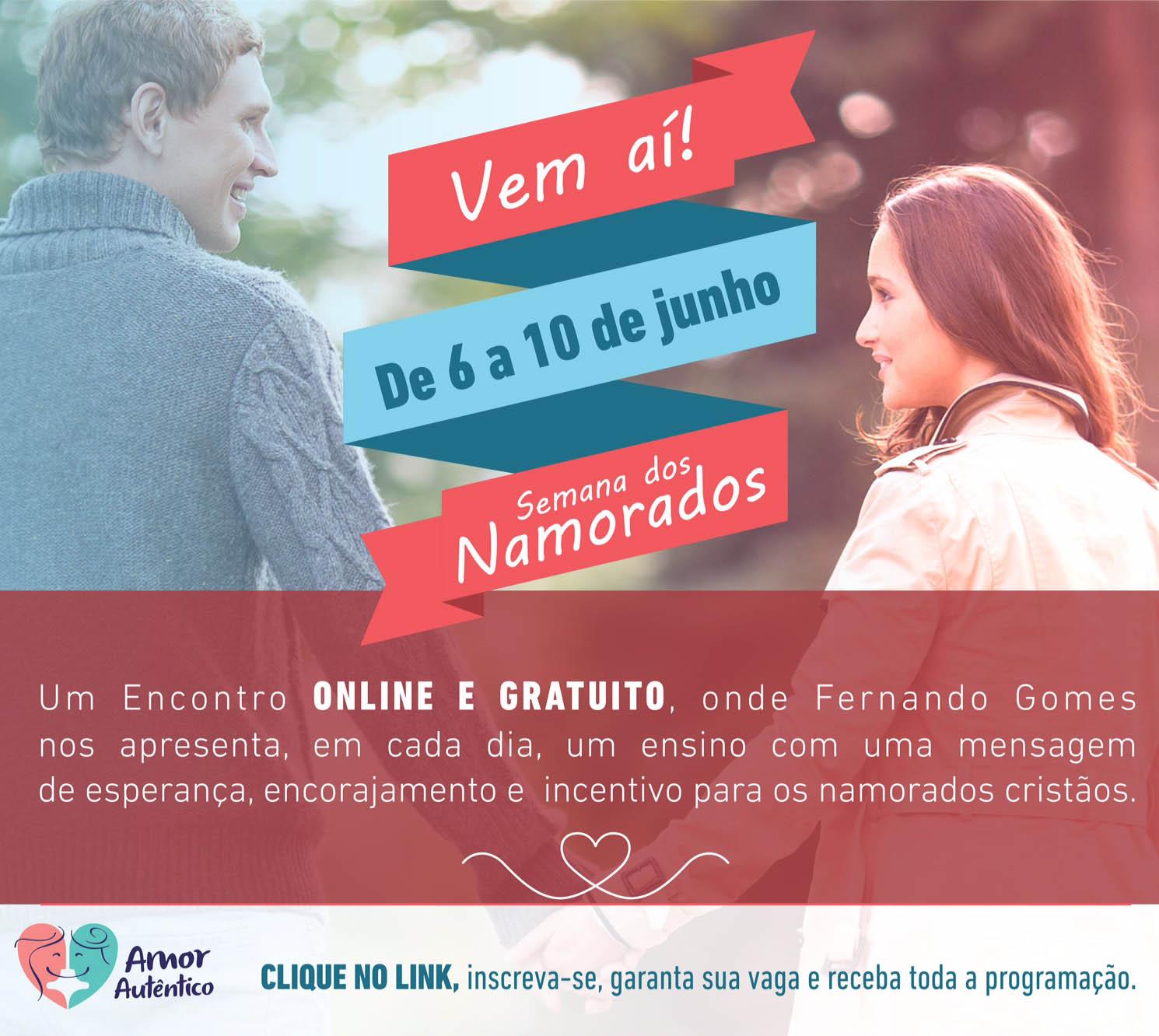 Semana dos Namorados on-line: palestras irão ajudar jovens na busca do amor autêntico