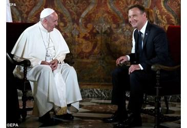 Papa Francisco se encontra com as autoridades civis e religiosas da Polônia