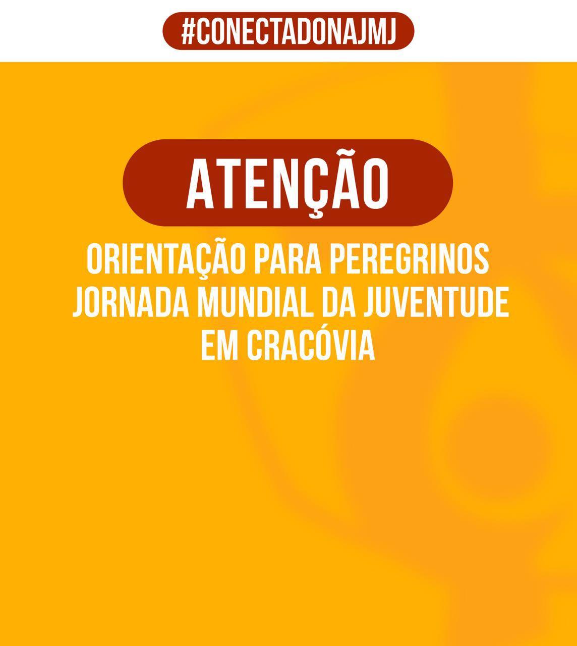 Aviso sobre a JMJ: Brasil terá consulado itinerante em Cracóvia
