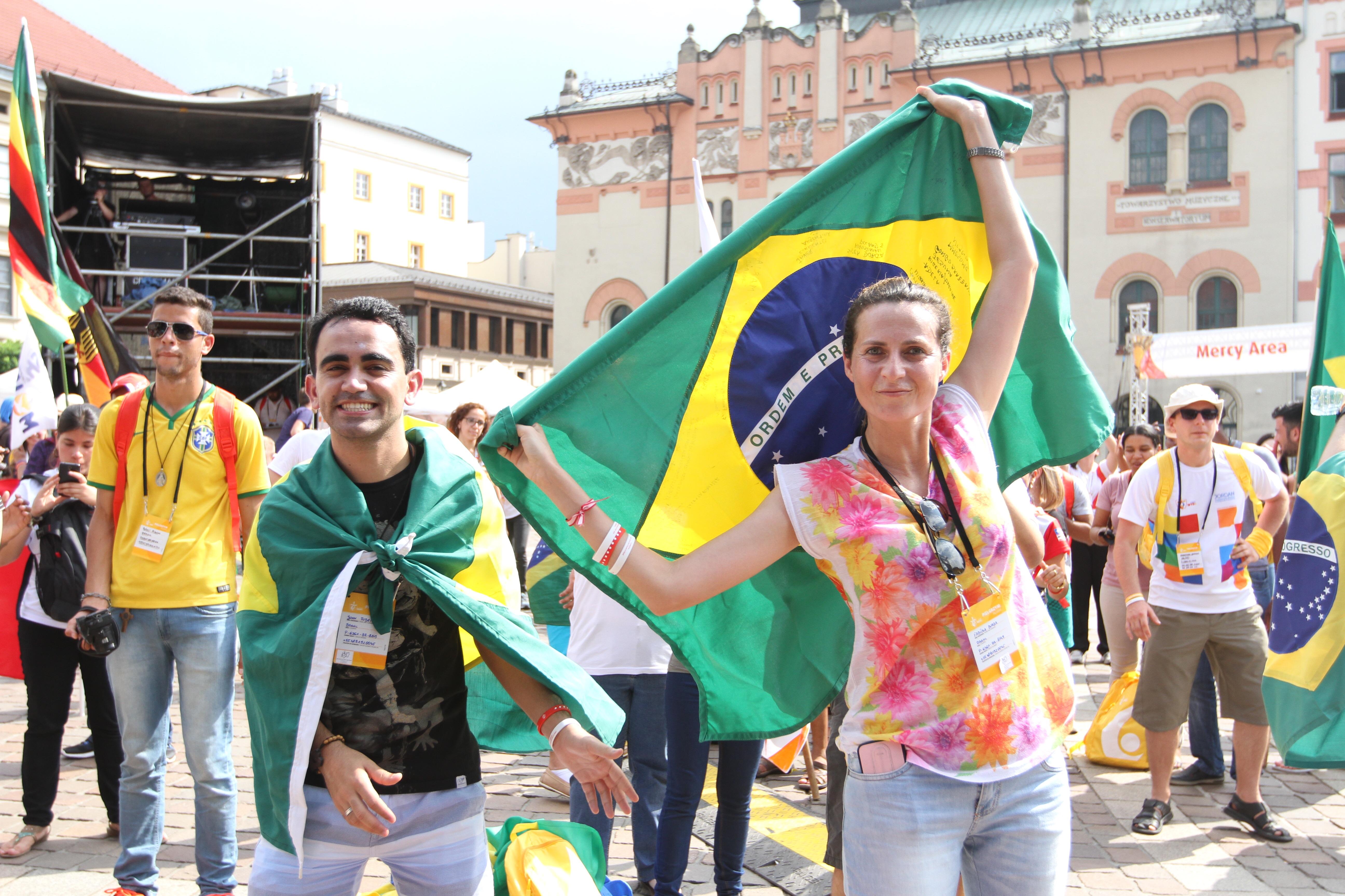 Brasileiros são o maior grupo de estrangeiros na JMJ