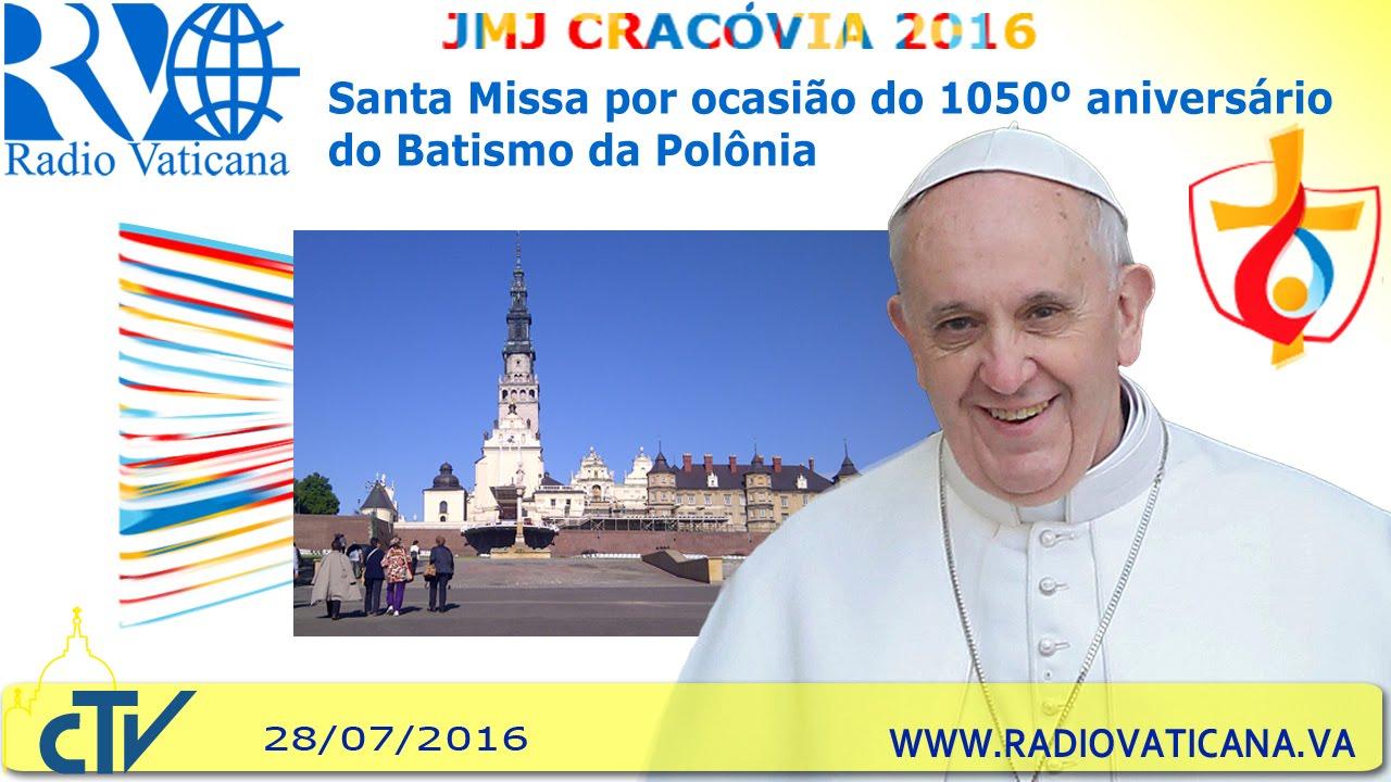 VÍDEO: Missa pelos 1050 anos de batismo da Polônia