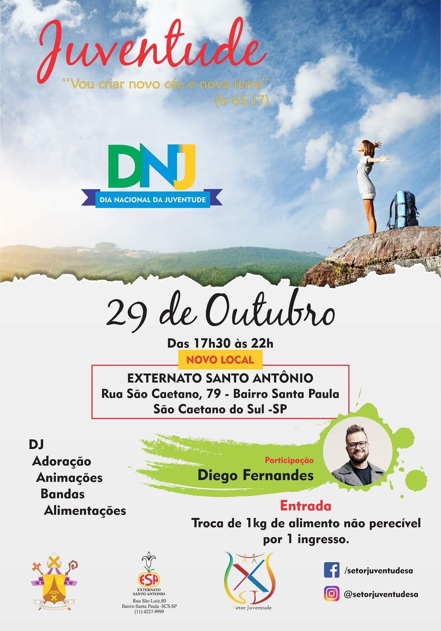 Juventude da Diocese de Santo André se prepara para celebrar o DNJ