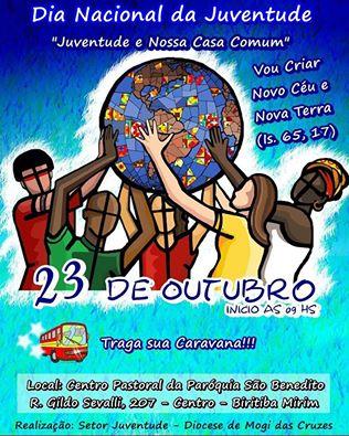 Diocese de Mogi das Cruzes (SP) celebra o Dia Nacional da Juventude (DNJ) no dia 23 de outubro