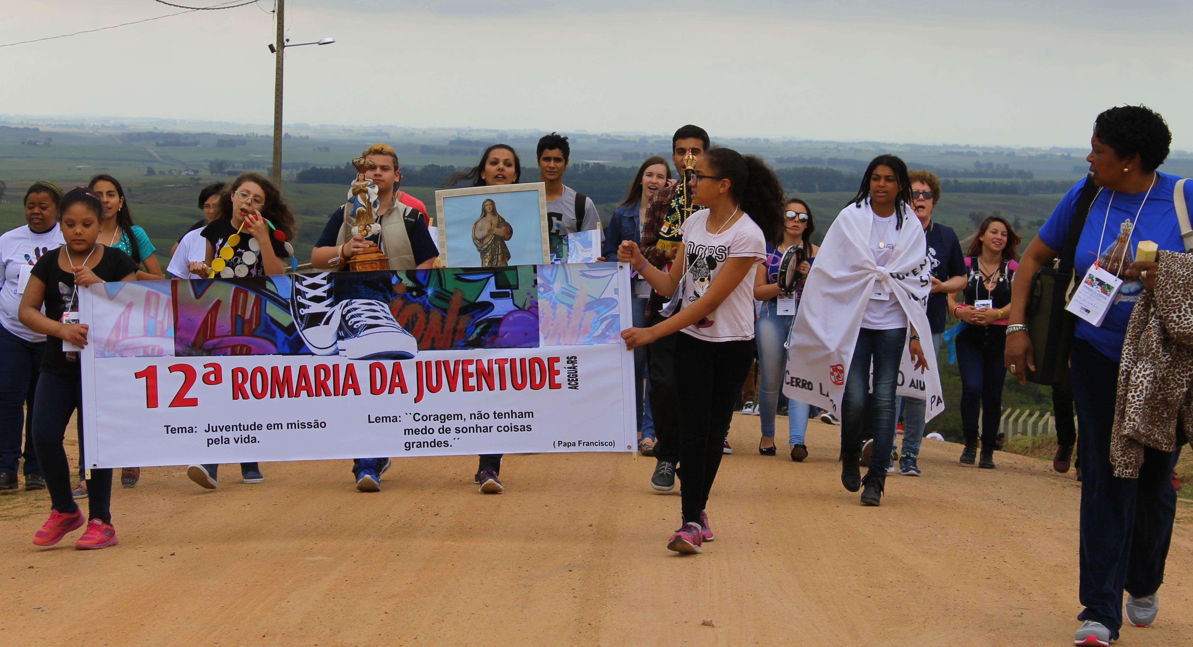 12ª Romaria da Juventude uniu Brasil e Uruguai