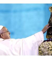 Papa Francisco no Santuário Nacional de Aparecida em 2013