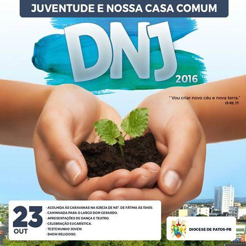 Juventude da Diocese de Patos - PB realizará DNJ