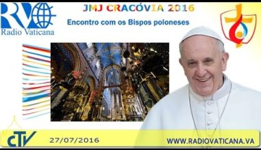 Ao vivo: Papa encontra os bispos poloneses