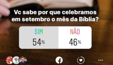 Você sabe por que setembro é o mês da Bíblia?