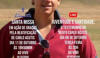 Setor Juventude da Diocese de Caxias do Sul festeja a beatificação do jovem Carlo Acutis
